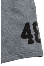 Printed sweatshirt shorts - Dark grey - Kids | H&M 3